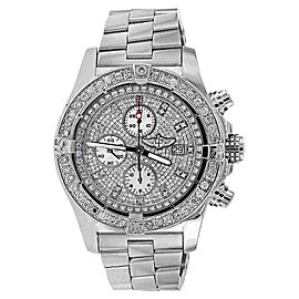 Breitling A13370 Super Avenger Diamond Dial Diamond Watch