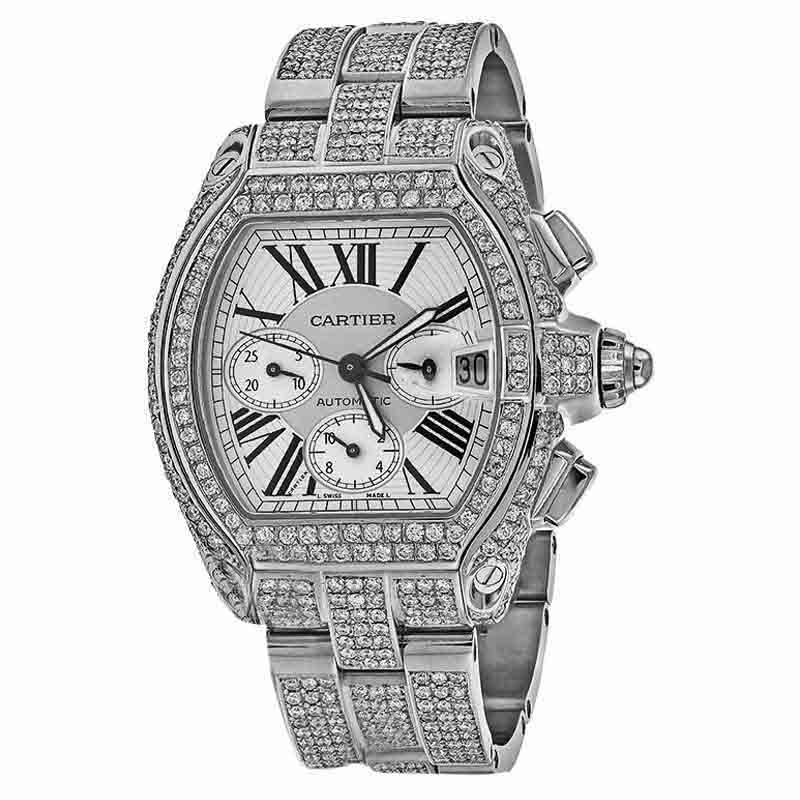 "Image of ""Cartier Roadster XL W62020X6 White Original Dial Stainless Steel"""