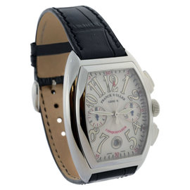 Franck Muller 8002 CC Conquistador Steel Chronograph Automatic Mens Watch