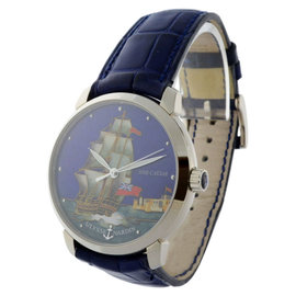 Ulysse Nardin 8150-111 San Marco HMS Caesar Cloisonne 18K Gold Watch