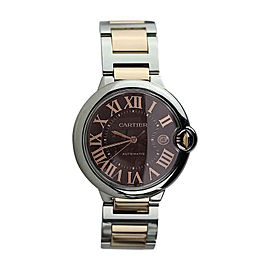 Cartier W6920032 Ballon Blue Stainless Steel and 18K Rose Gold 42mm Watch