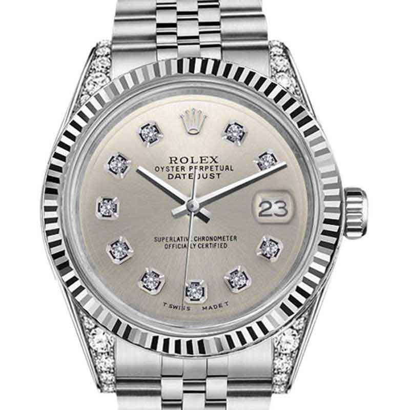 """Image of """"Rolex Datejust stainless Steel Silver Color Diamond Dial 31mm Ladies"""""""