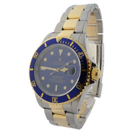 Rolex Submariner 16613 18K Gold & Steel Automatic Dive Mens 40mm Watch