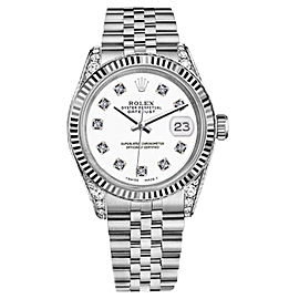 Rolex Datejust White Color Dial with Diamonds Woman's Watch 26mm
