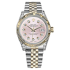 Rolex Datejust 2 Tone Metallic Pink Womens Watch 31mm