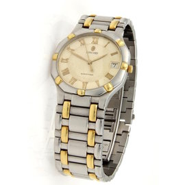 Concord Saratoga Date Quartz 18K Yellow Gold & Stainless Steel Watch