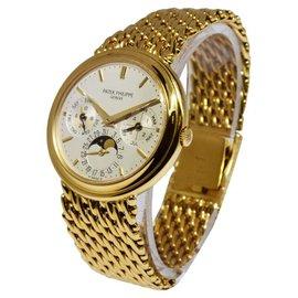 Patek Philippe Perpetual Calendar 3940/1J 18K Gold Bracelet Mens Watch