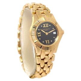 Patek Philippe Neptune 4881 18K Yellow Gold Diamond Quartz Womens Watch