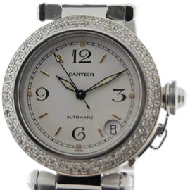 Cartier Pasha CC436382 Diamonds 18K Gold Steel Unisex Watch 35mm