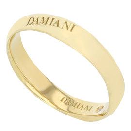 Damiani 18K Yellow Gold Wedding Band Ring Size 9