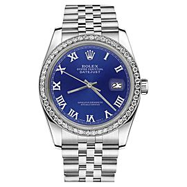Rolex Datejust Blue Color Roman Numeral Dial Womens 31mm Watch