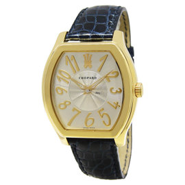 Chopard 16/2235 The Prince's Foundation 18K Yellow Gold Silver Dial Mens Watch