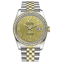 Rolex Datejust Two Tone Champagne Gold Jubilee Roman Numeral Dial 26mm Watch
