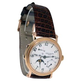 Patek Philippe Complications 5015R 18K Rose Gold Mens Watch