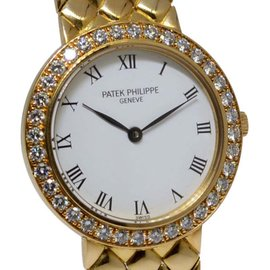 Patek Philippe 4820/1 18K Yellow Gold & Diamond Dress Womens Watch