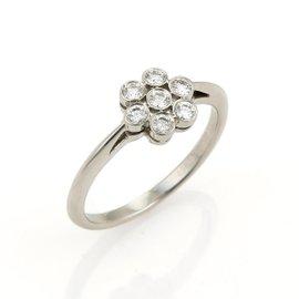 Tiffany & Co. Diamond Flower Platinum Ring