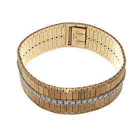 Tiffany & Co. 14K Yellow & White Gold Wide Diamond Bracelet