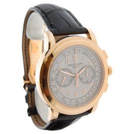 Patek Philippe 5070R-001 18K Rose Gold Chronograph Mens Watch
