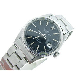 Rolex Datejust 1603 Stainless Steel Oyster w/Black Dial Mens Watch