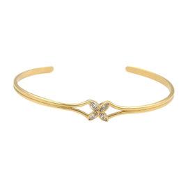 Tiffany & Co. Victoria Diamond Floral 18k Yellow Gold Cuff Bracelet