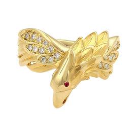Carrera y Carrera 18K Yellow Gold Diamonds & Ruby Eagle Ring