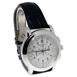 Patek Philippe 5070 18K White Gold Chronograph Mens Watch