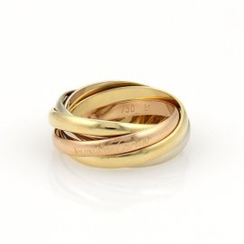 Cartier Trinity 18K Tri-Color Gold 5 Rolling Band Ring 5.75