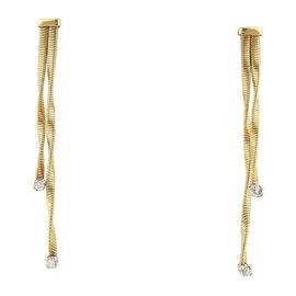 Marco Bicego Diamonds & 18K Two Tone Gold Double Drop Earrings