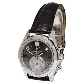 Patek Philippe Platinum Annual Calendar Chronograph Watch