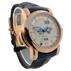 Ulysse Nardin GMT 322-66 Perpetual 18K Rose Gold Automatic Mens Watch
