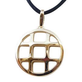 Cartier Pasha de Cartier 18K Yellow Gold and Black Cord Grid Necklace