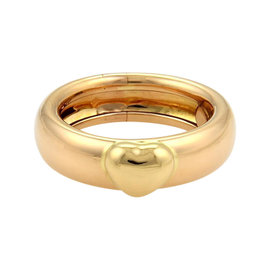 Tiffany & Co. 18K Rose & Yellow Gold Heart Ring Size 6