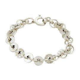 Tiffany & Co. 1837 Vintage Circle Disc Link Sterling Silver Bracelet
