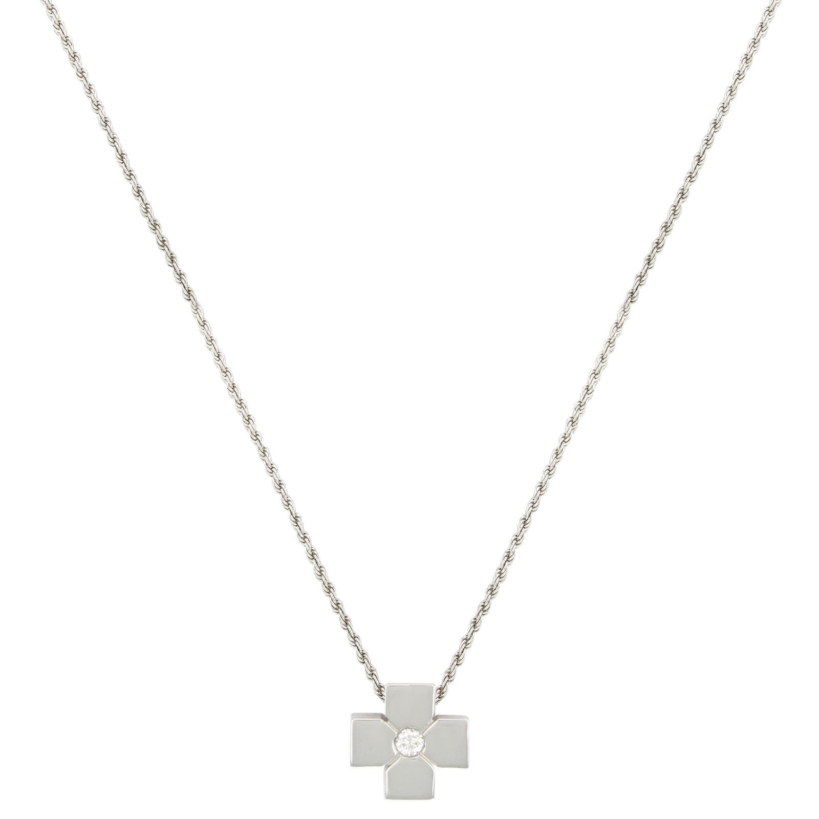 "Image of ""Salvini 18K White Gold & 0.09ct. Diamond Pendant Necklace"""