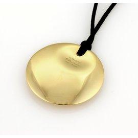 Tiffany & Co. Elsa Peretti 18K Gold Moon Disc Pendant Necklace