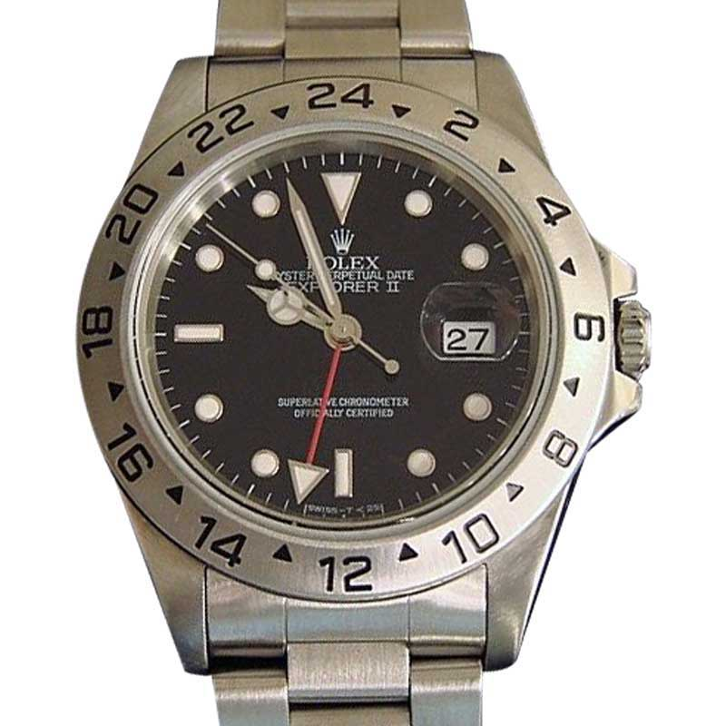 """Image of """"Rolex Explorer II 16570 Stainless Steel Date Oyster w/Black Dial 40mm"""""""