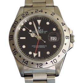 Rolex Explorer II 16570 Stainless Steel Date Oyster w/Black Dial 40mm Mens Watch