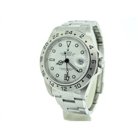 Rolex Explorer II Stainless Steel Date Oyster w/White Dial 40mm Mens Watch