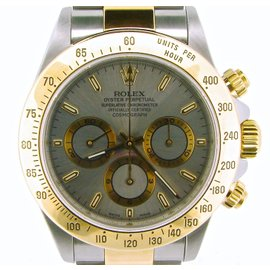 Rolex Daytona 116523 2Tone 18K Yellow Gold/Stainless Steel Cosmograph Slate Mens Watch