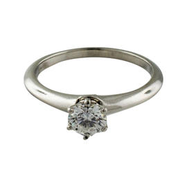 Tiffany & Co. Platinum & Diamond Round Solitaire Ring