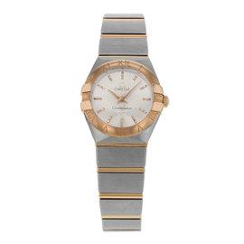 Omega Constellation 123.20.24.60.02.001 Steel & 18K Rose Gold Quartz Ladies Watch