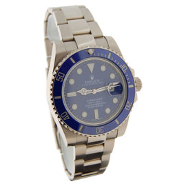 Rolex Submariner 116619 18K White Gold Blue Ceramic Mens Watch
