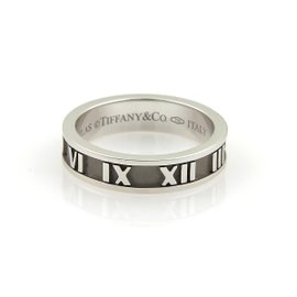 Tiffany & Co. 18K White Gold Wide Band Ring