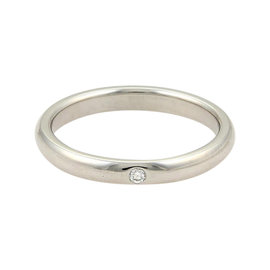 Tiffany & Co. Peretti Platinum Diamond Dome Wedding Band Ring