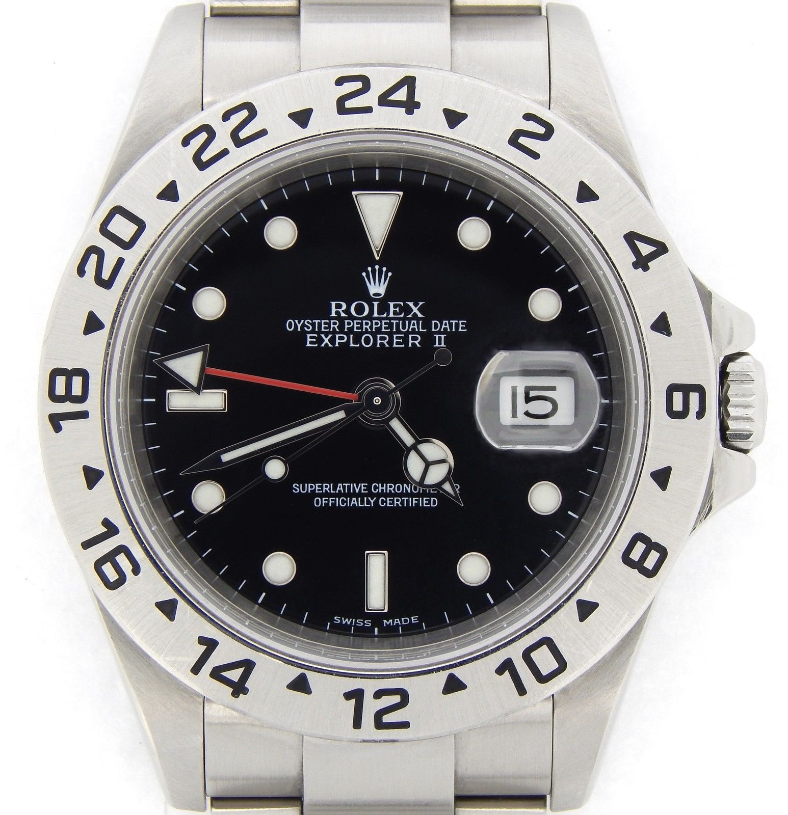 "Image of ""Rolex Explorer II 16570T Stainless Steel Date SEL No Holes 40mm"""