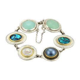 Gurhan Galapagos 24K Yellow Gold & Sterling Silver Multi-Color Gems Bracelet