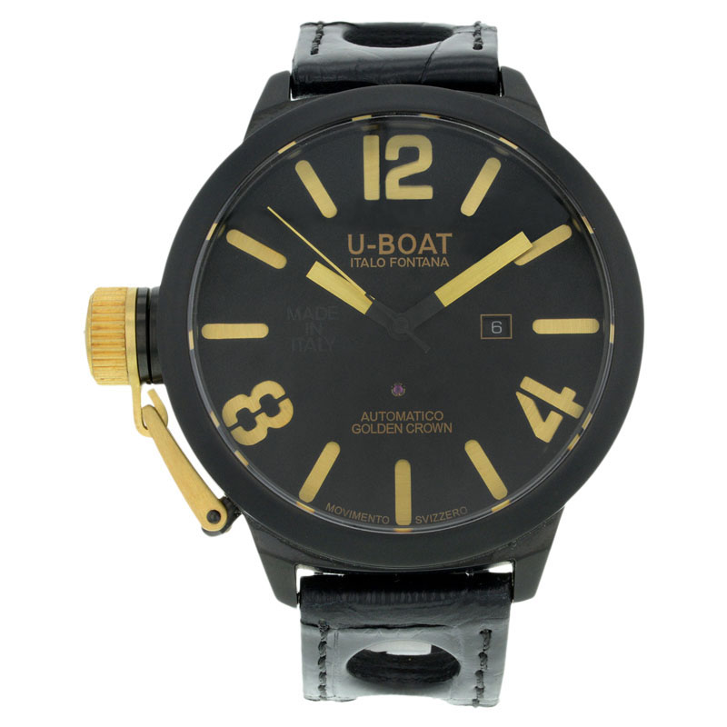 "Image of ""U-Boat Classico 1215 Black Ceramic Automatic Right Handed Mens Watch"""