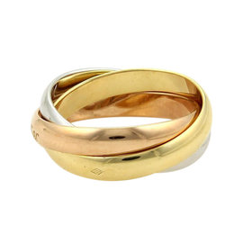 Cartier Trinity 18K Tri-Color Gold 3 Rolling Bands Ring Size US 5.75