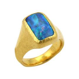 Gurhan Paradiso 24K Yellow Gold & Opal Rectangular Cocktail Ring