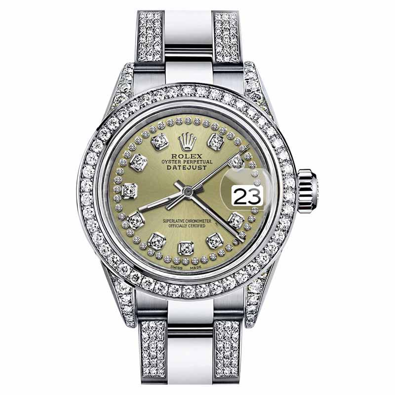 """Image of """"Rolex Oyster Perpetual Datejust Stainless Steel and Champagne String"""""""